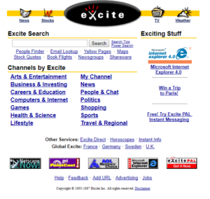 Excite in 1997