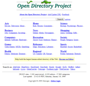 Open Directory Project in 1998