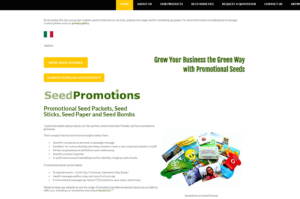 seed promotions old homepage